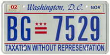 2000 Passenger plate no. BG-7529 validated for 2001-02 (exp. Nov. 2002)