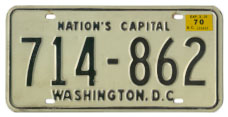 1968 (exp. 3-31-69) Passenger plate no. 714-862 validated for 1969 (exp. 3-31-70)