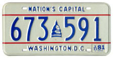 1978 Passenger plate no. 673-591 validated for 1980-81 (exp. 3-31-81)