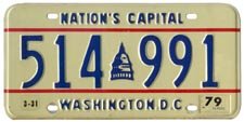 1978 Passenger plate no. 514-991 validated for 1978-79 (exp. 3-31-79)