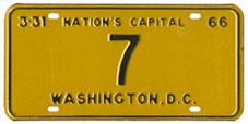 1965 Reserved plate no. 7
