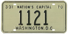 1969 reserved plate no. 1121