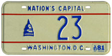 1980 reserved plate no. 23