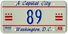 1988 reserved plate no. 89