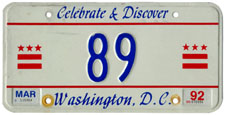 1991 reserved plate no. 89