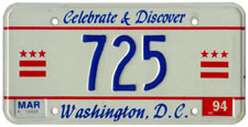 1993 reserved plate no. 725