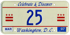 1996 reserved plate no. 25