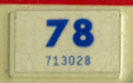 1977 (exp. 3-31-78) sticker, blue on white