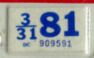 1980 (exp. 3-31-81) sticker, blue on white