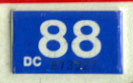 1987 (expires 1988) sticker, white on blue