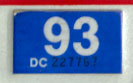 1992 (expires 1993) sticker, white on blue