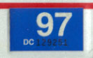 1996 (expires 1997) sticker, white on blue