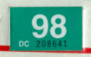 1997 (expires 1998) sticker, white on green