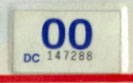 1999 (expires 2000) sticker, blue on white