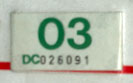 2002 (expires 2003) sticker, green on white