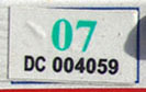 2006 (expires 2007) sticker, green on white