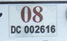 2007 (expires 2008) sticker, brown on white