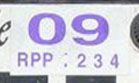 2008 (expires 2009) sticker, purple on white