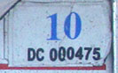 2009 (expires 2010) sticker, blue on white